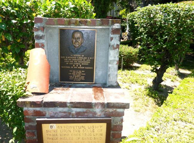 plaque honoring Raymond Catalan