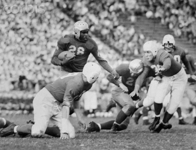 Jackie Robinson Playing Football