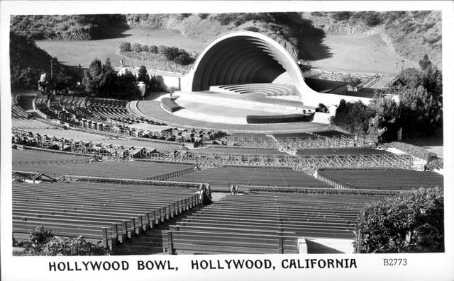 Hollywood Bowl postcard