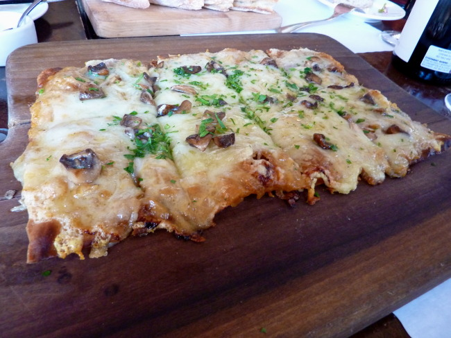 Tarte aux Champignons (Tart with Caramelized Onions, Gruyére and Mushrooms