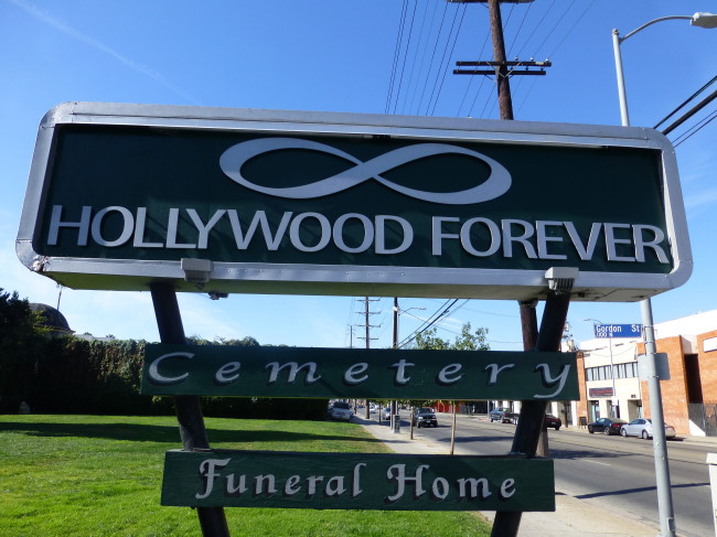 Hollywood Forever Cemetery Signs
