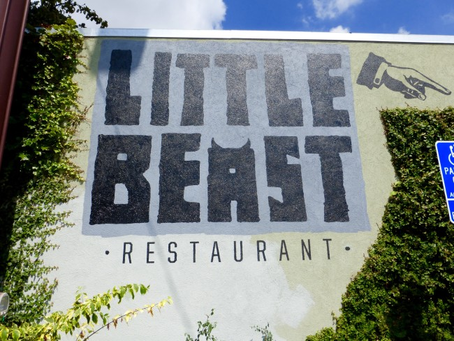 the little beast photo on the wall