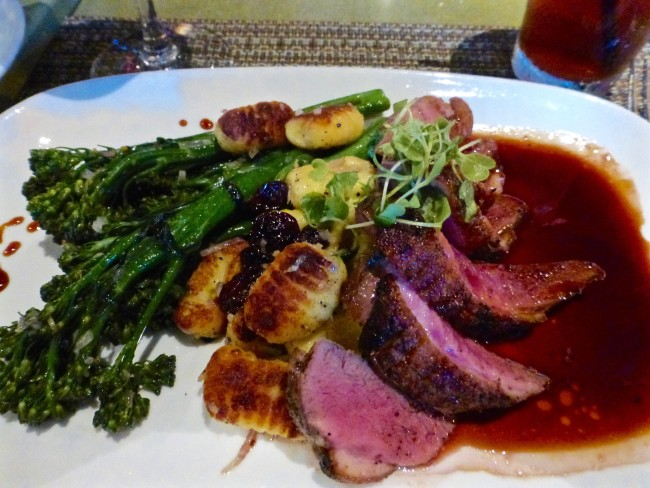 Duck Breast with Dried Cherries