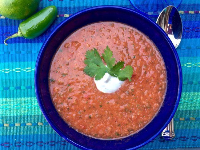 watermelon gazpacho soup