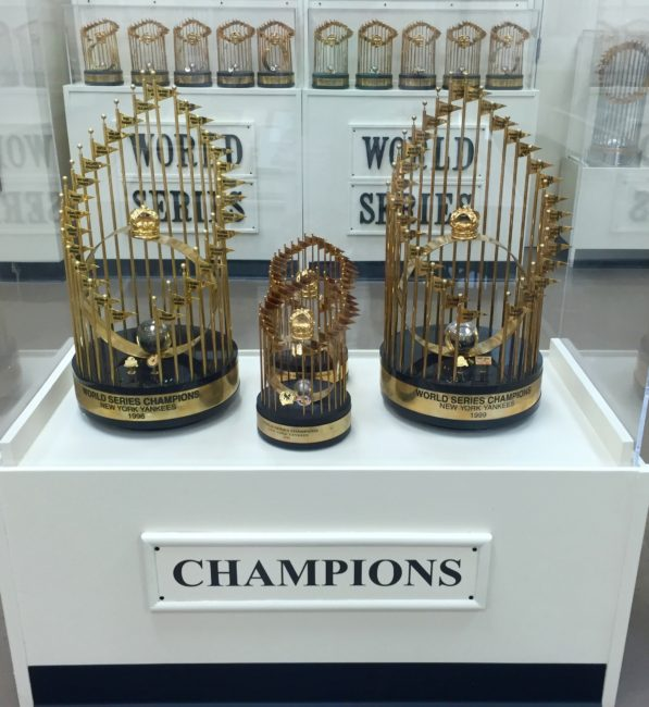 World Series Trophies Sports Museum Los Angeles