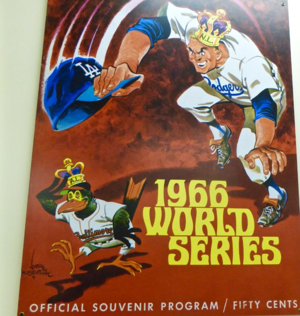 1966 World Series Program Sports Museum Los Angeles