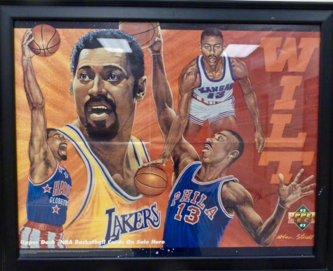 Wilt Chamberlain frame Sports Museum of Los Angeles