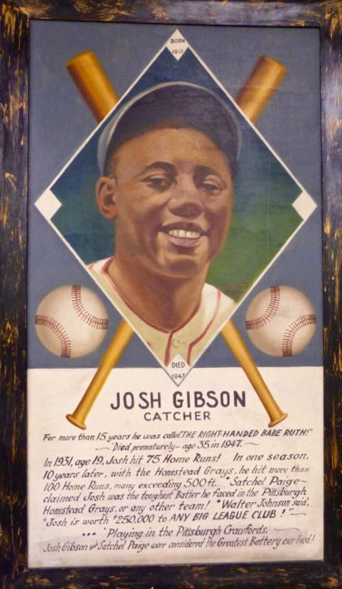 Josh Gibson Frame Sports Museum Los Angeles