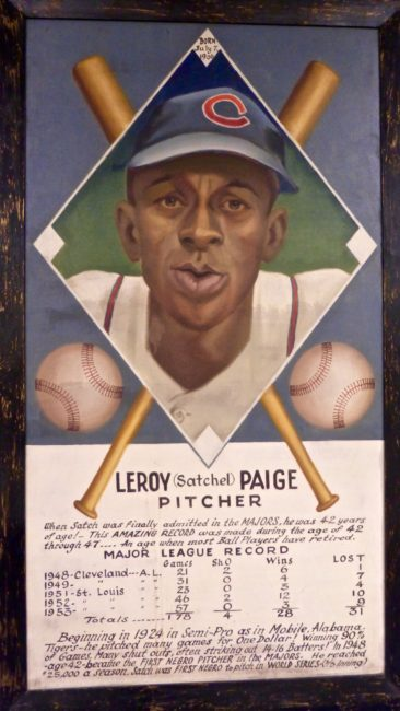 Leroy Paige Frame Sports Museum Los Angeles