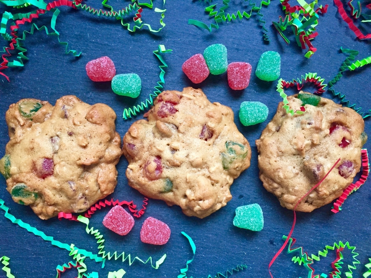 Nana S Old Fashioned Christmas Oatmeal Gumdrop Cookies