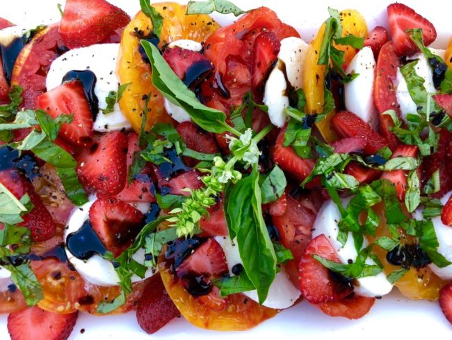 strawberry mozzarella salad