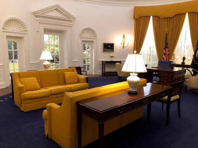 Where Is The Oval Office To Next We Stepped Into The Oval Office Or At Least Replica Of Nixons Where Had Been Photographed Years Before When Was Sworn In As Richard Nixon Presidential Library And Museum Yorba Linda